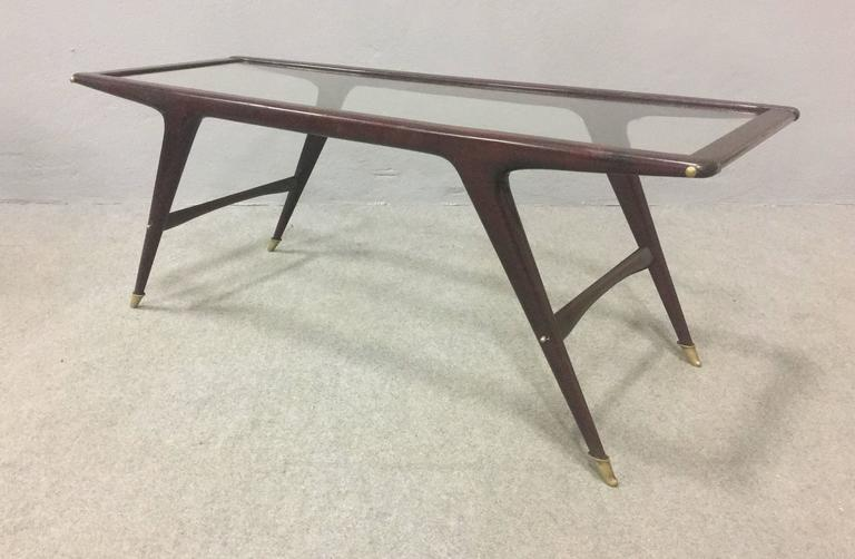 Mid-Century Modern Stunning Coffee Table Attributed to Ico Parisi for Singer and Son For Sale
