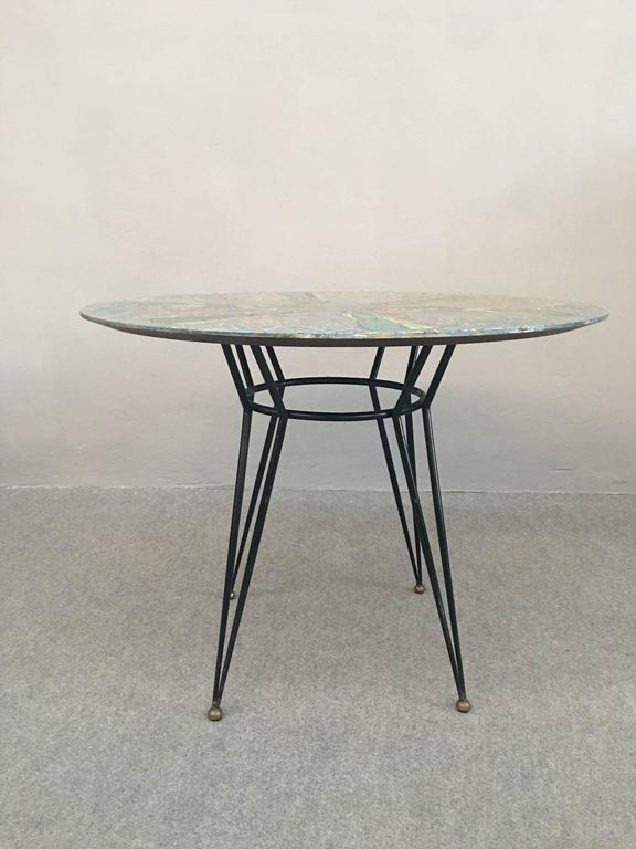 Mid-20th Century Glamorous Table by Decalage, Signed For Sale
