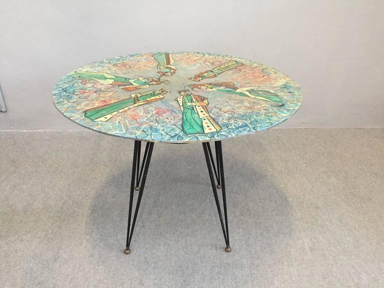 Very nice and rare table by Decalage, Torino, Italy.