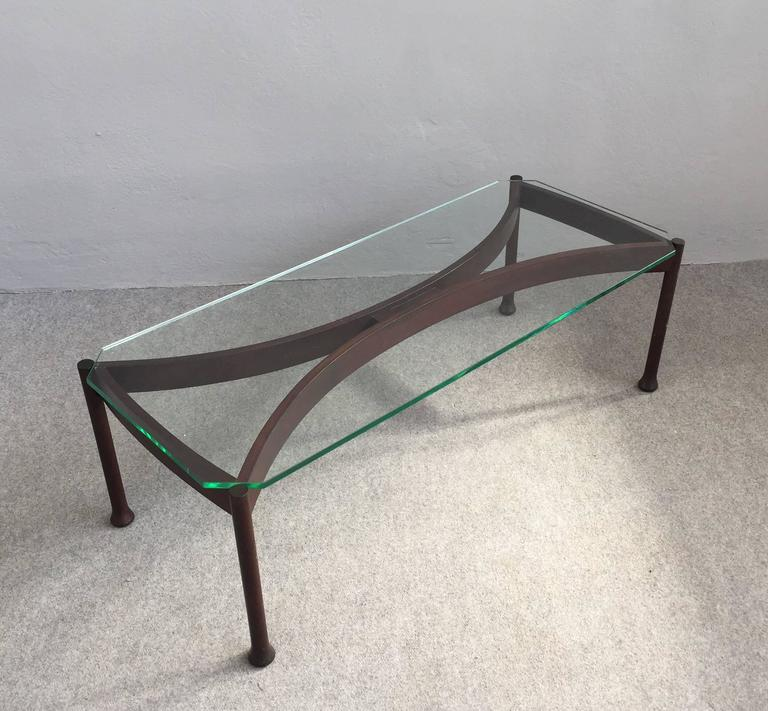 Mid-Century Modern Stunning Coffee Table Attributed to Fontana Arte For Sale