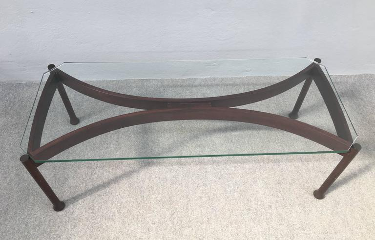 Stunning Coffee Table Attributed to Fontana Arte In Excellent Condition For Sale In Carpaneto Piacentino, Italy