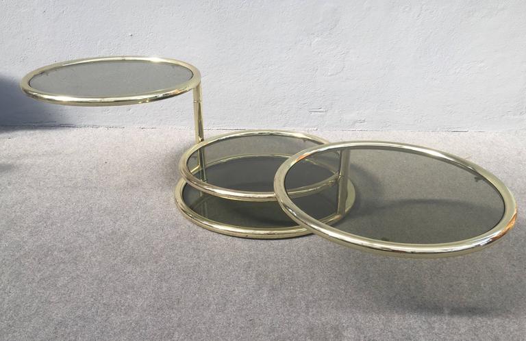 Mid-Century Modern Glamorous Sliding Coffee Table For Sale