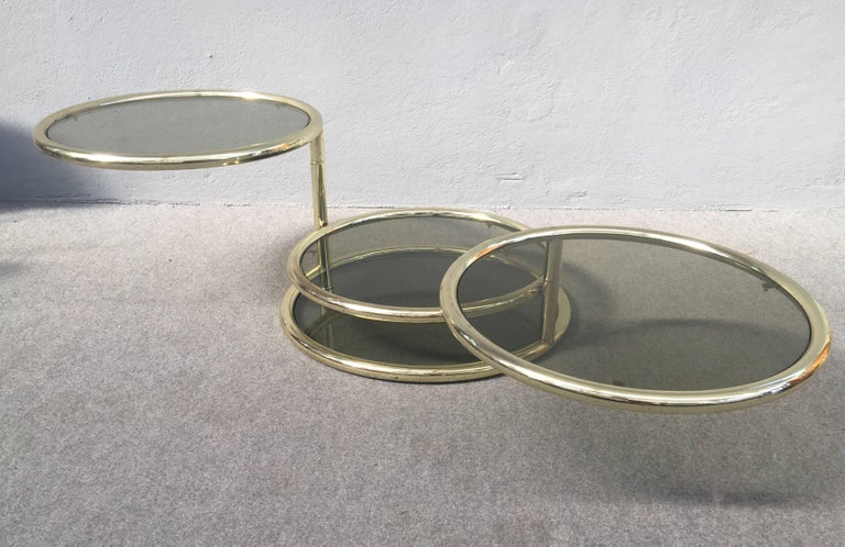 Mid-Century Modern Glamorous Sliding Coffee Table For Sale