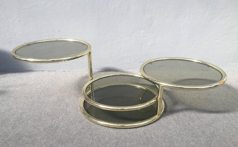 Italian Glamorous Sliding Coffee Table For Sale