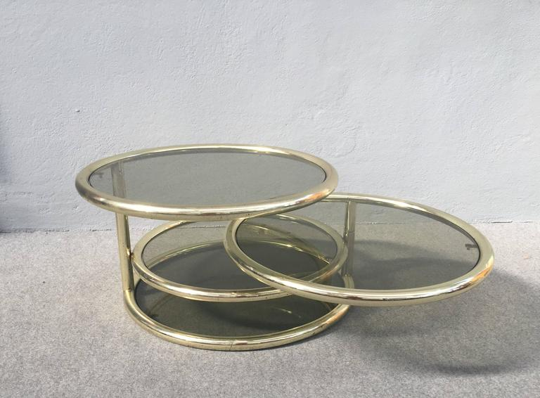 Late 20th Century Glamorous Sliding Coffee Table For Sale