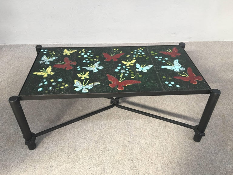 Italian Coffee Table by Jacques Adnet For Sale