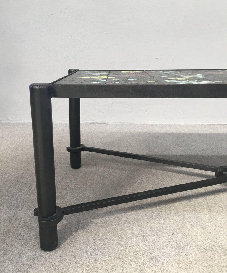 Mid-20th Century Coffee Table by Jacques Adnet For Sale