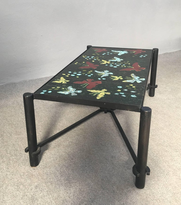 Coffee Table by Jacques Adnet For Sale 2