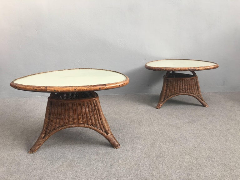 Glass top for these charming coffee tables. Shaped legs.