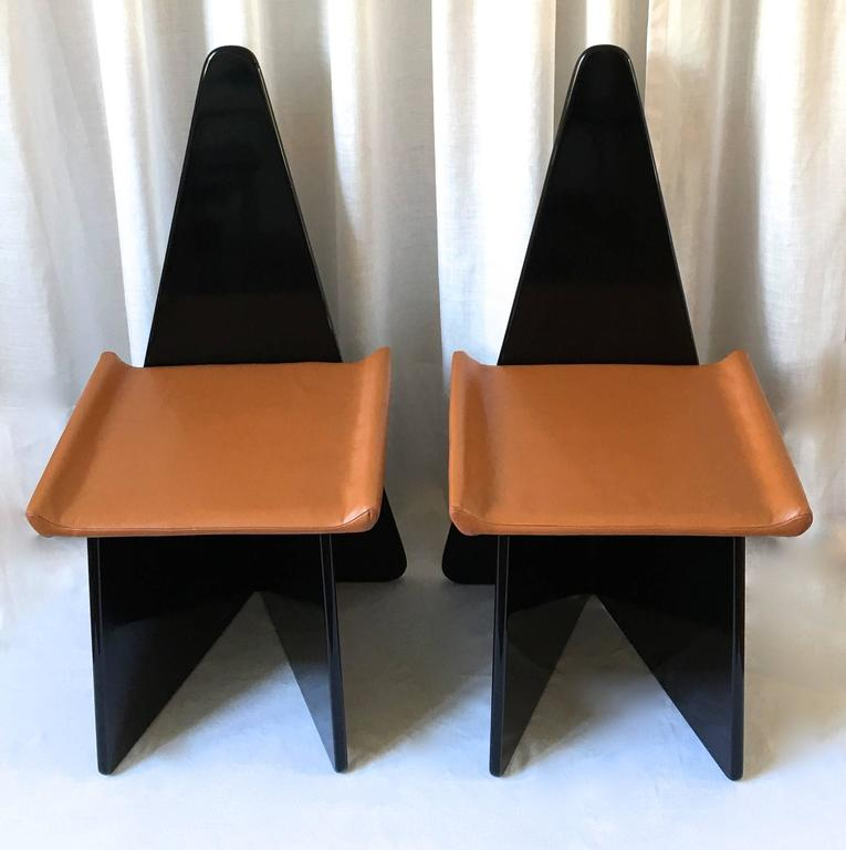 Rare pair of post modern claudio salocchi chairs for sale for Post modern chair