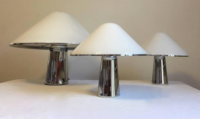 this set of three harvey guzzini mushroom lamps is no longer available. Black Bedroom Furniture Sets. Home Design Ideas