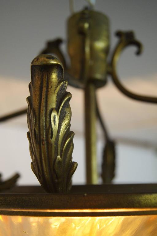 Articulate Murano Glass Italian Pendant, Archimede Seguso, 1940s 7