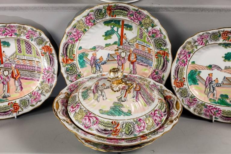 Late 19th Century Staffordshire Dinner Service For Sale 3