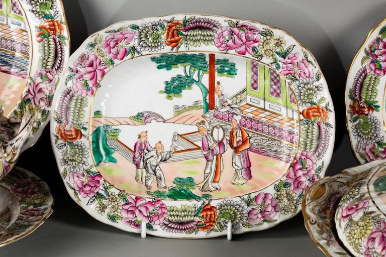 Late 19th Century Staffordshire Dinner Service For Sale 1