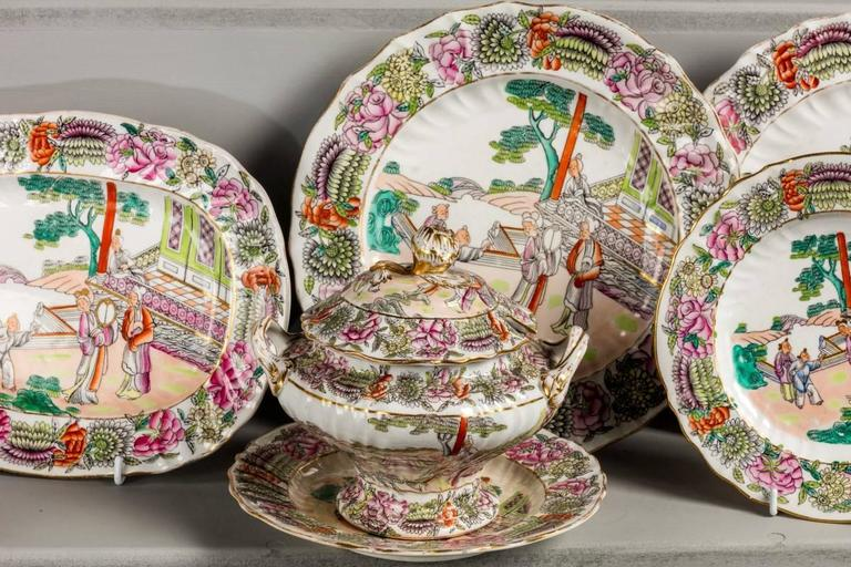 Late 19th Century Staffordshire Dinner Service For Sale 2
