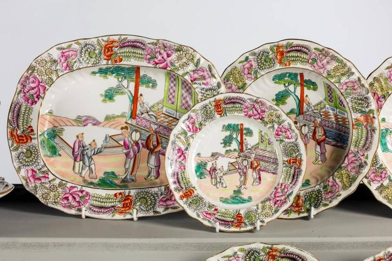 Late 19th Century Staffordshire Dinner Service In Good Condition For Sale In Peterborough, GB