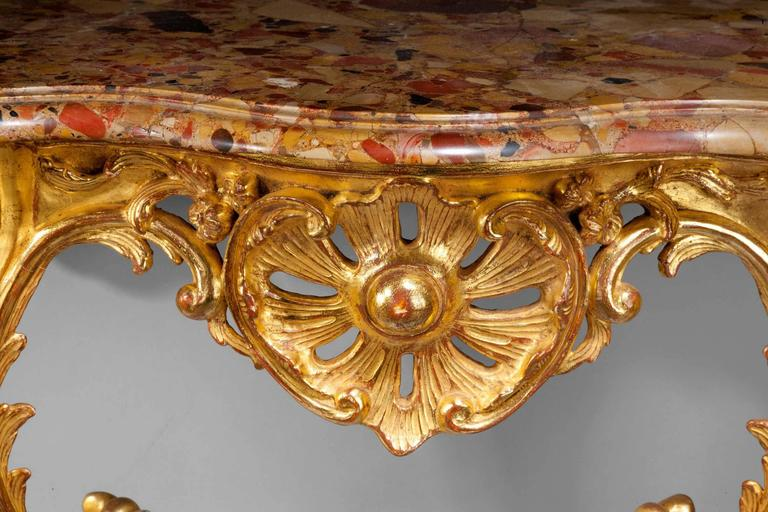 Louis XV Giltwood Console Table In Good Condition For Sale In Peterborough, Northamptonshire