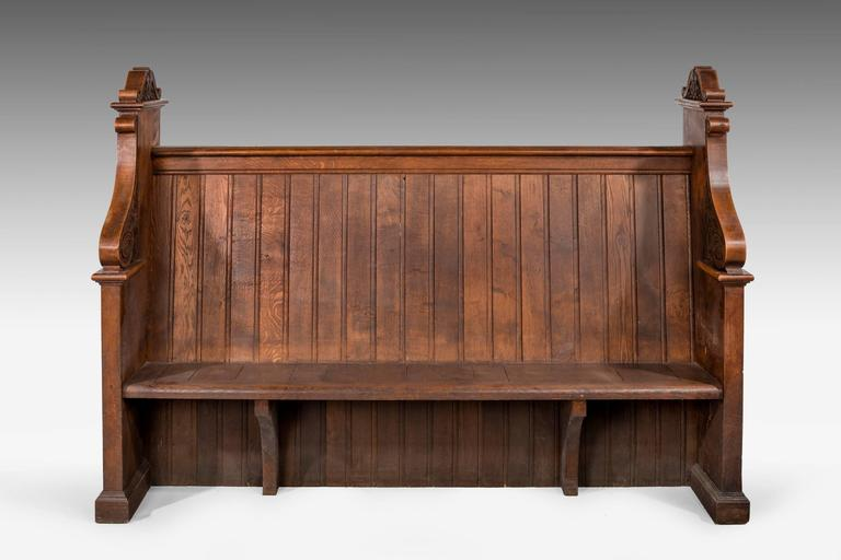 Late 19th Century Gothic Oak Pews 2