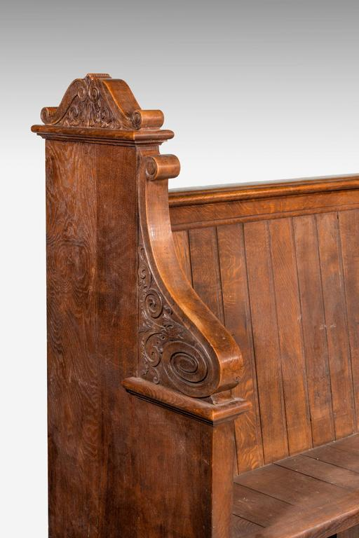 Late 19th Century Gothic Oak Pews 5