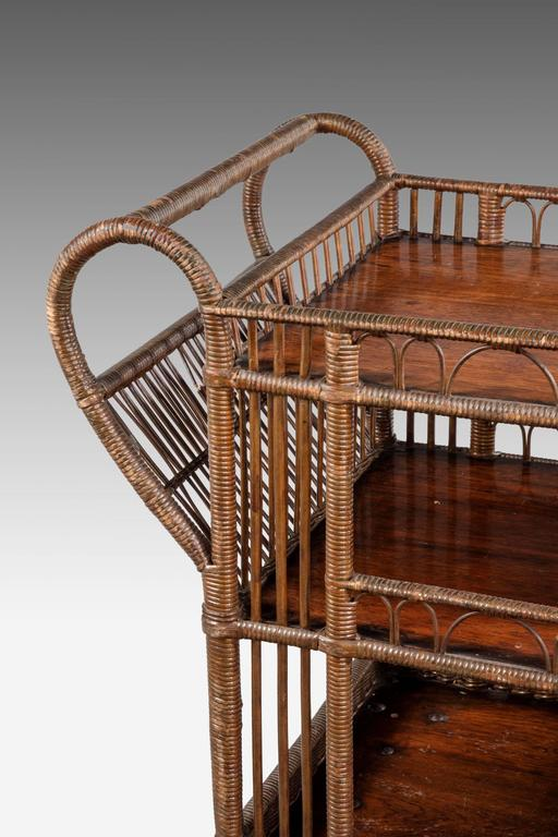 19th Century Cane Work And Split Straw Trolley At 1stdibs