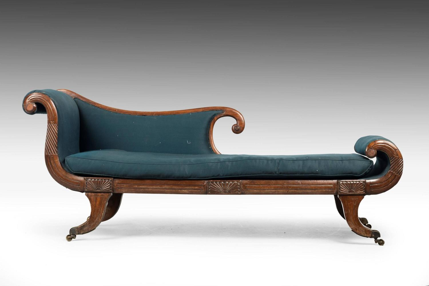 Early 19th century regency period chaise longue for sale for Century furniture chaise lounge