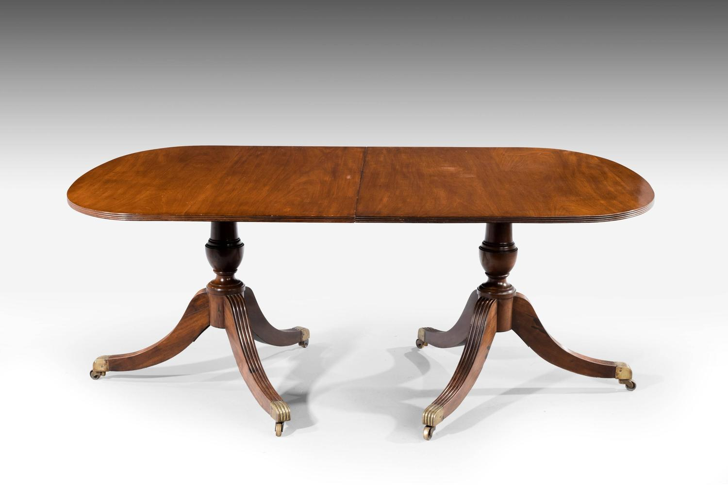 Regency period two pillar dining table for sale at 1stdibs for Pillar dining table