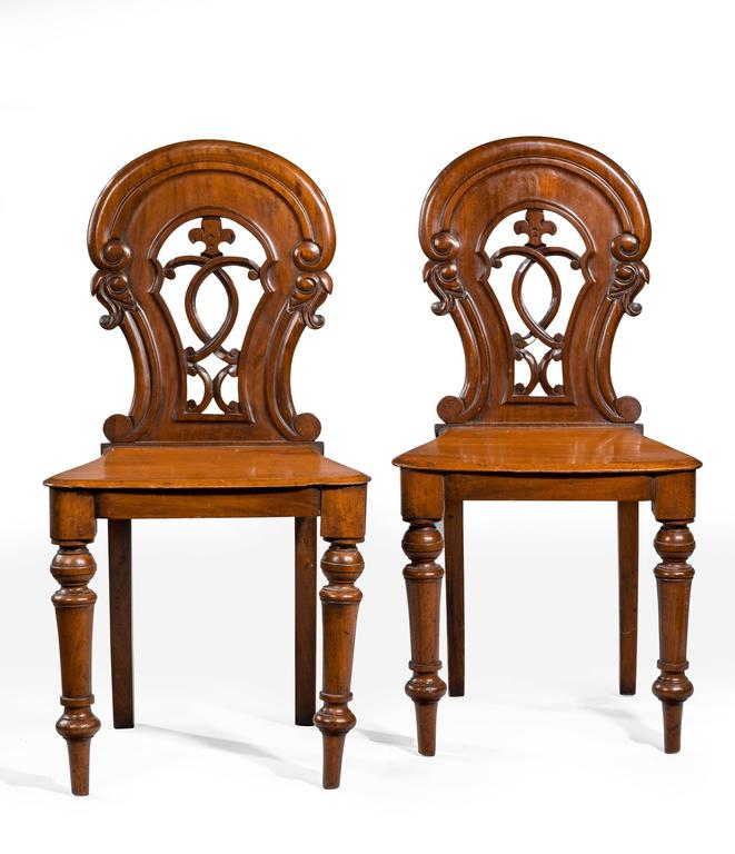 Pair of Early Victorian Hall Chairs 3
