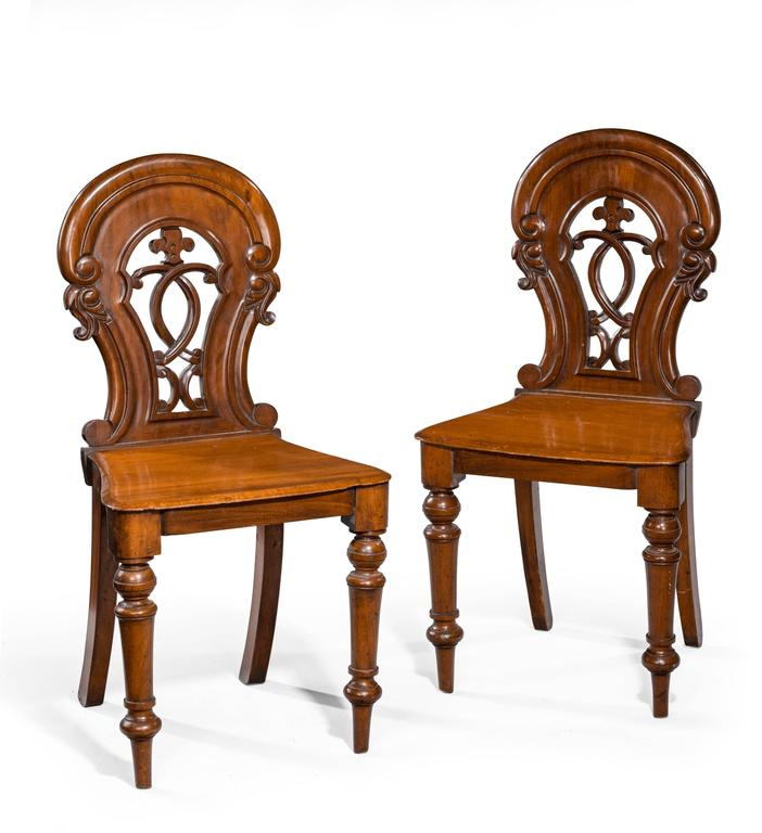 Pair of Early Victorian Hall Chairs 2