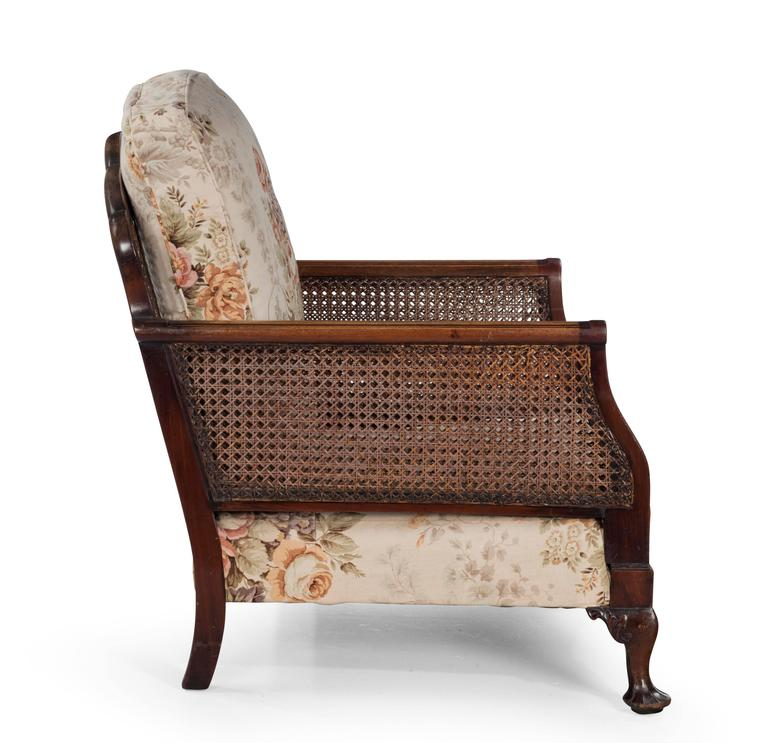 Pair Of Early 20th Century Bergere Chairs For Sale At 1stdibs