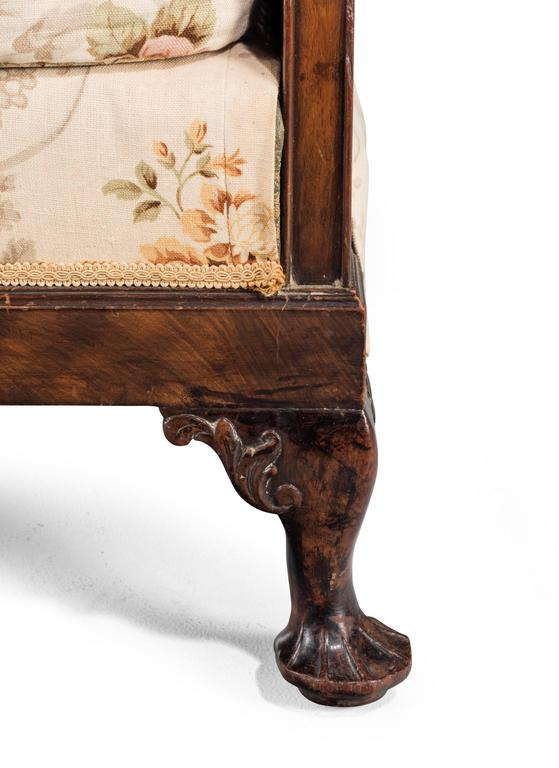 Early 20th Century Mahogany Framed Bergere Sofa For Sale 1