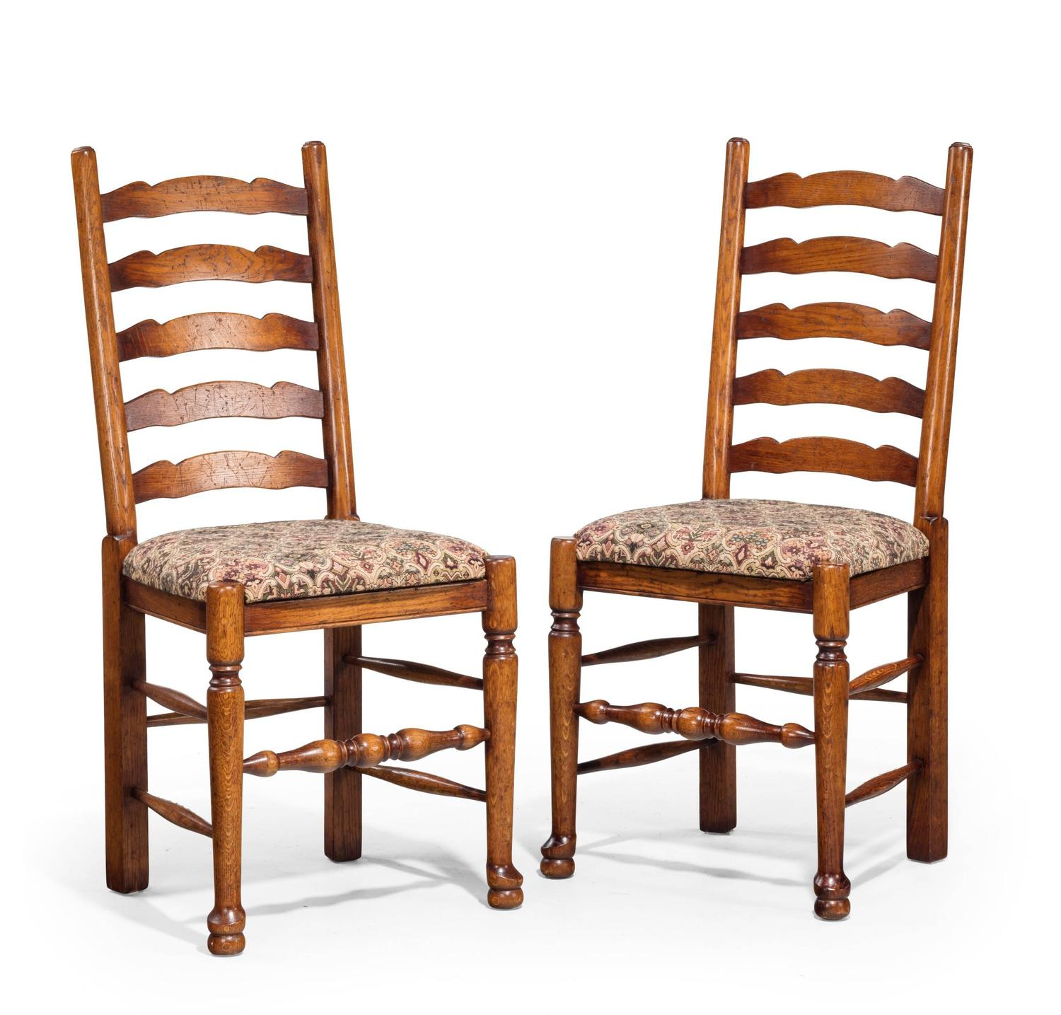 eight 20th century oak ladder back single chairs for sale at 1stdibs