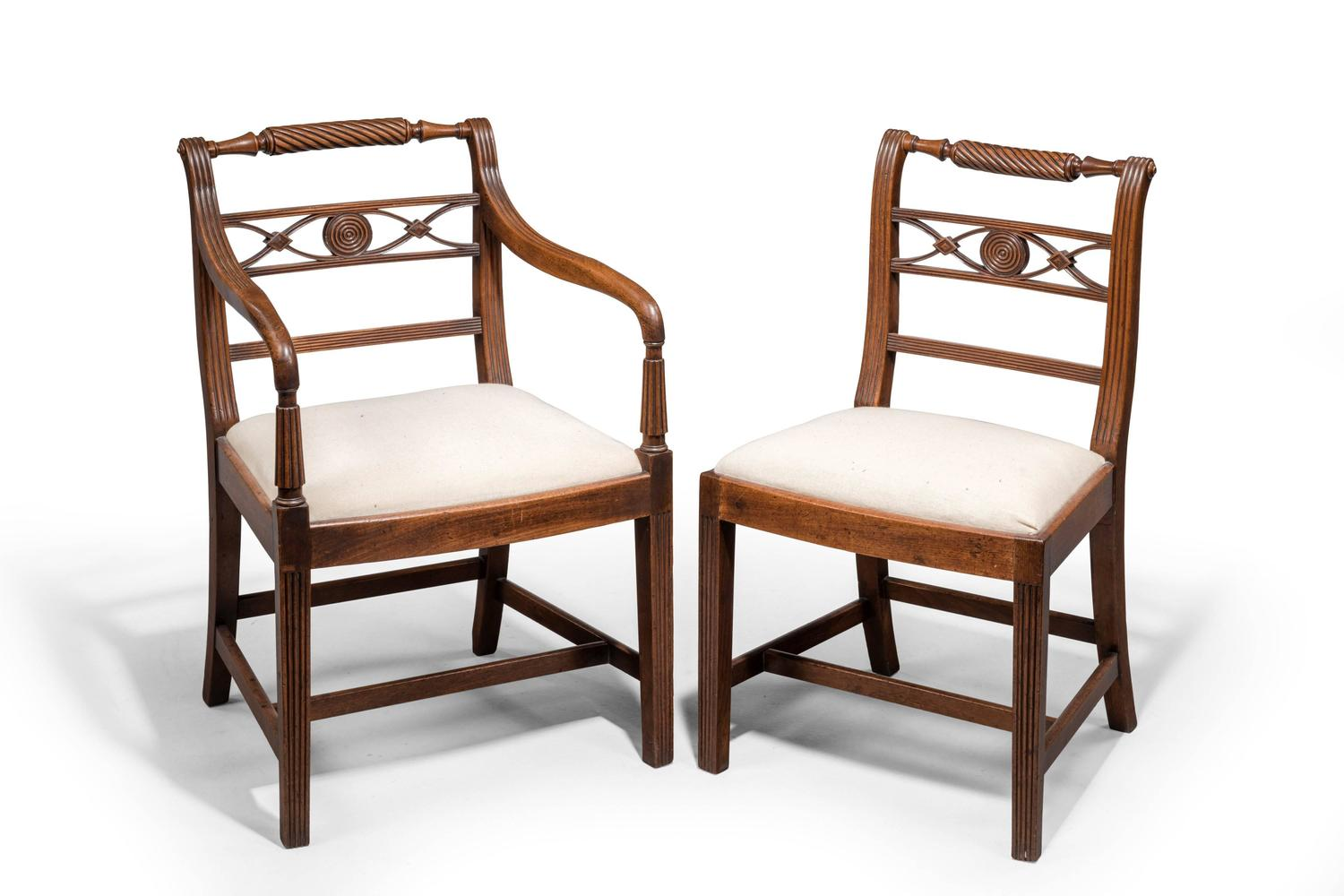 Set of Six Early 19th Century Mahogany Chairs For Sale at  : 734103z from www.1stdibs.com size 1500 x 1000 jpeg 96kB