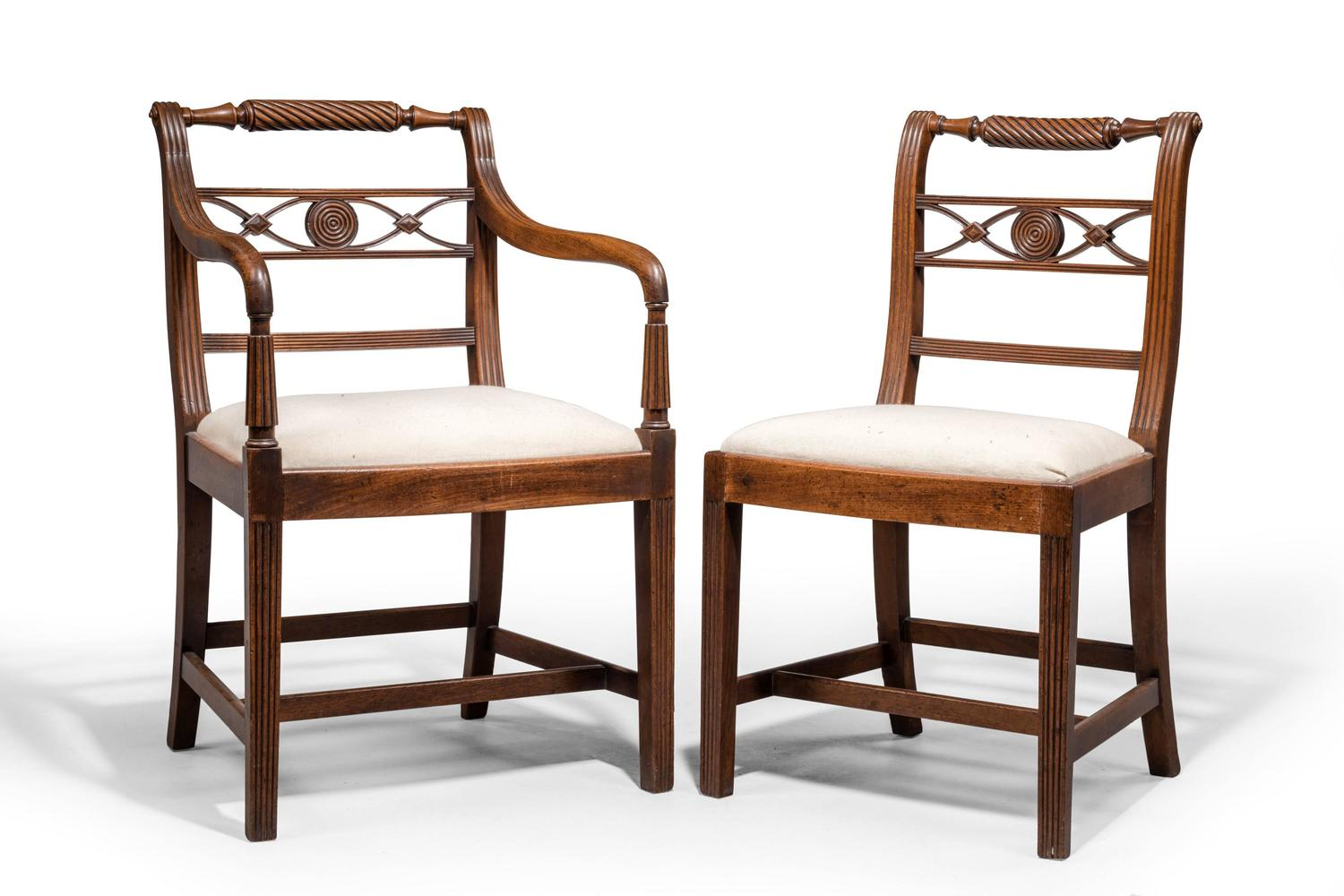 Set of Six Early 19th Century Mahogany Chairs For Sale at  : 734105z from www.1stdibs.com size 1500 x 1000 jpeg 104kB