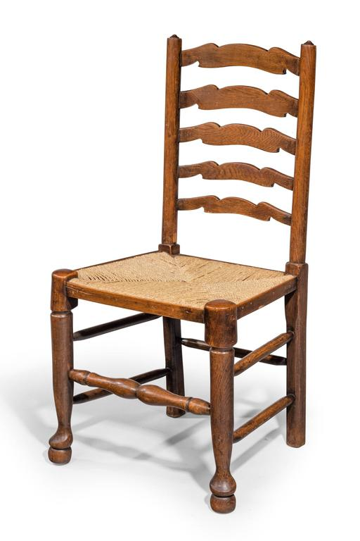 Set of Eight Late 19th Century Ladderback Chairs For Sale  : 734708l from www.1stdibs.com size 512 x 768 jpeg 34kB