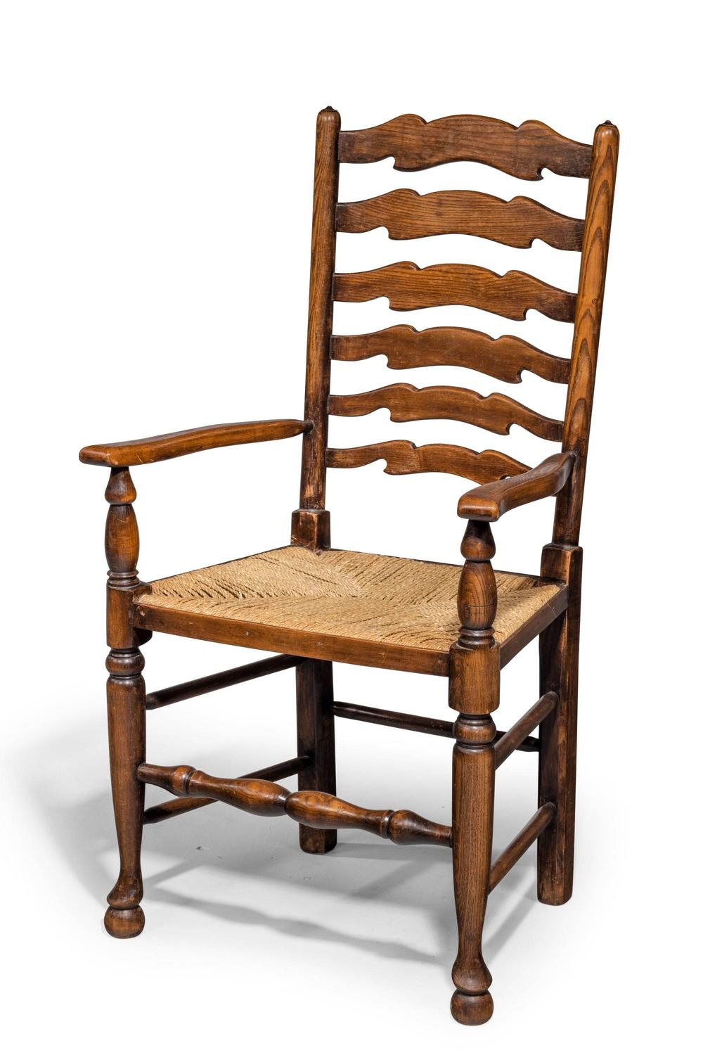 Set of Eight Late 19th Century Ladderback Chairs For Sale  : 734714z from www.1stdibs.com size 1000 x 1500 jpeg 111kB