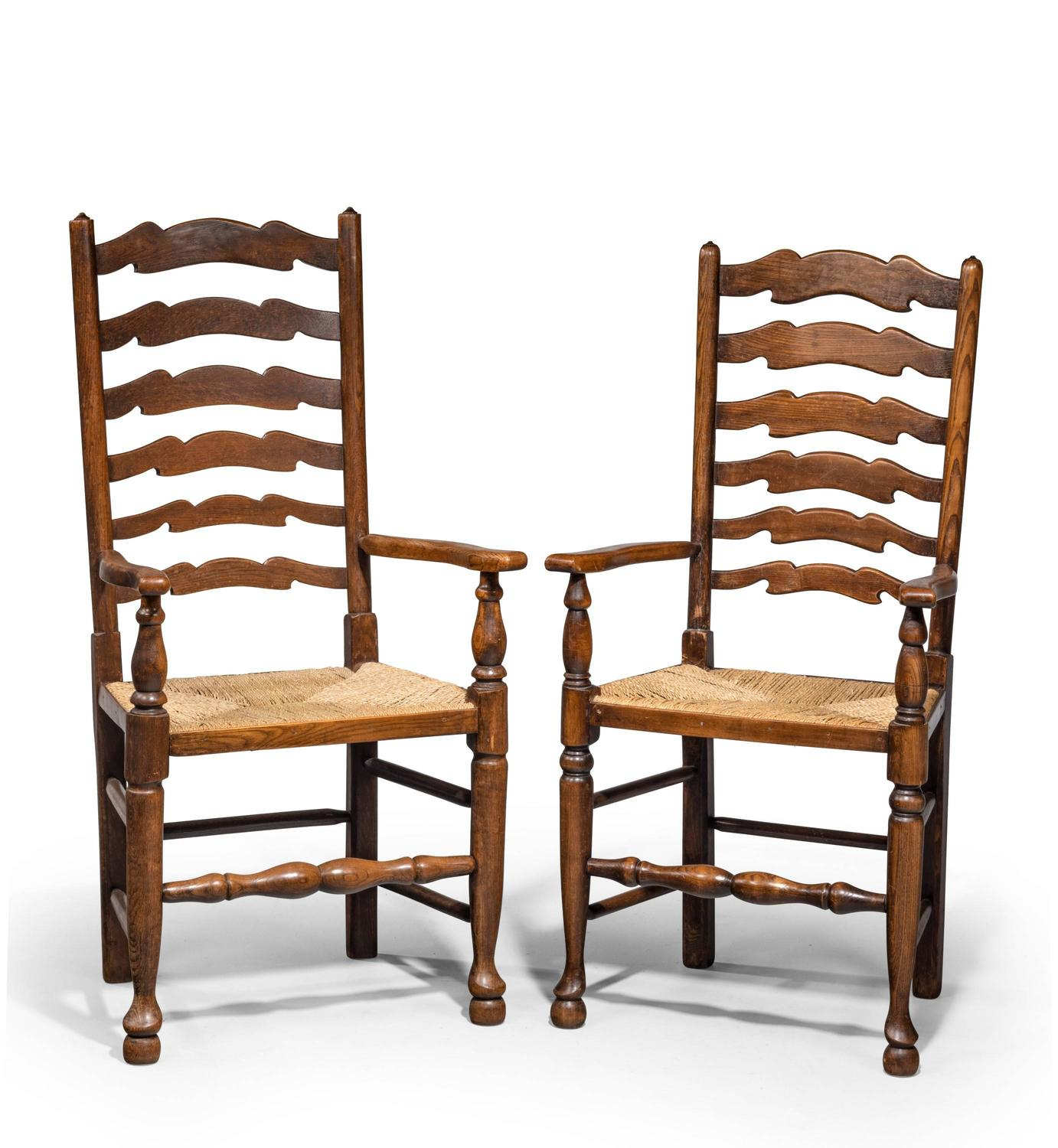 Set of Eight Late 19th Century Ladderback Chairs For Sale  : 734710z from www.1stdibs.com size 1382 x 1500 jpeg 150kB