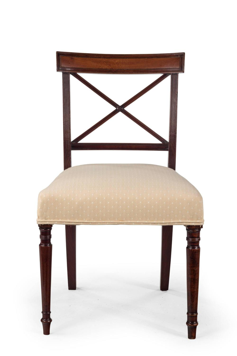 Set of Four George III Period Mahogany Dining Chairs For  : 731802z from www.1stdibs.com size 1000 x 1500 jpeg 62kB