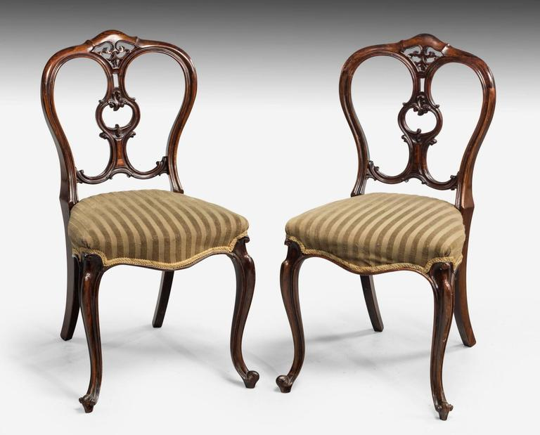Set Of Six Mid Victorian Balloon Back Chairs 3