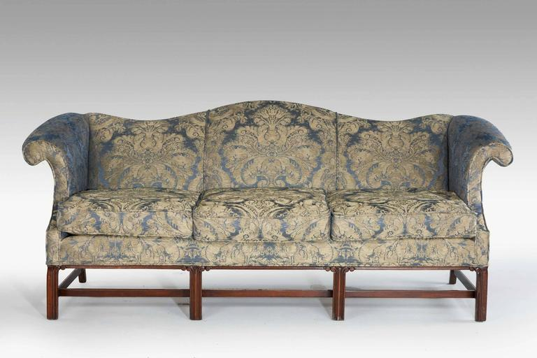 Chippendale Design Camelback Sofa For Sale At 1stdibs