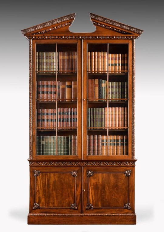 old bookcases for sale chippendale period mahogany low waisted bookcase for 3618