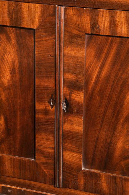 Regency Period Mahogany Side Cabinet With Two Original Upper Shelves For Sale At 1stdibs