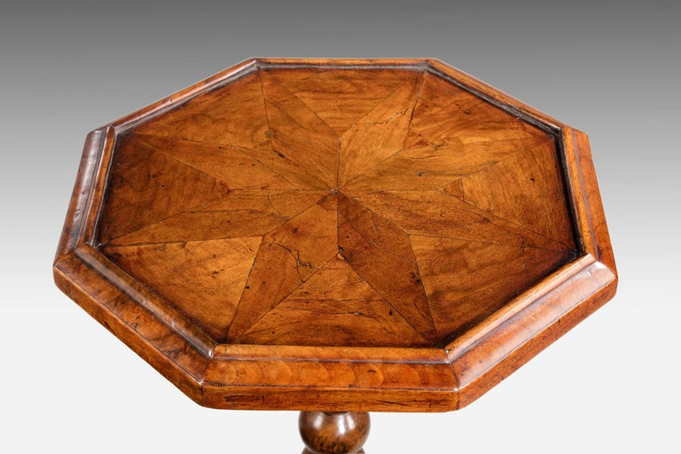Great Britain (UK) William and Mary Period Walnut Candle Stand For Sale