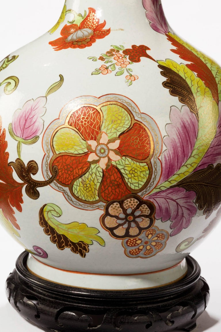 Mid 20th century french porcelain vase lamp with an for French furniture designers 20th century