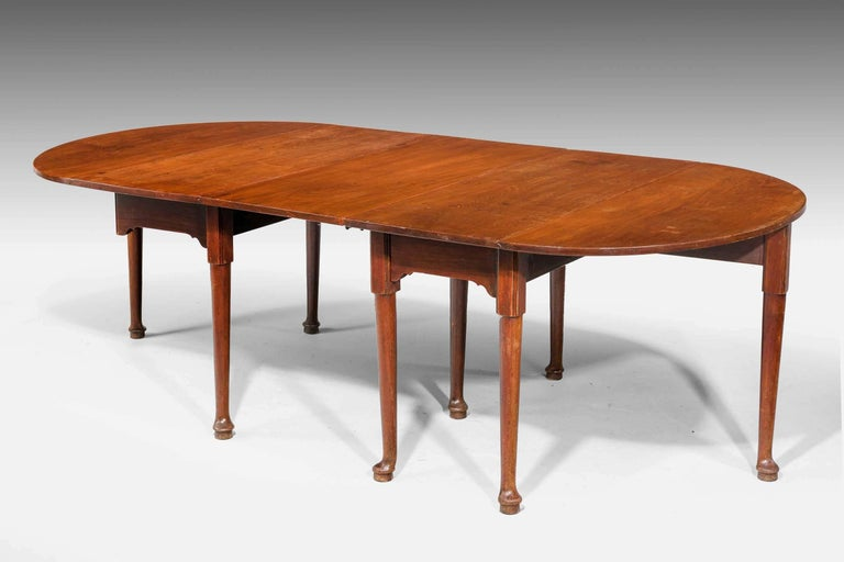 Early George III Period Mahogany Dining Table In Good Condition For Sale In Peterborough, Northamptonshire
