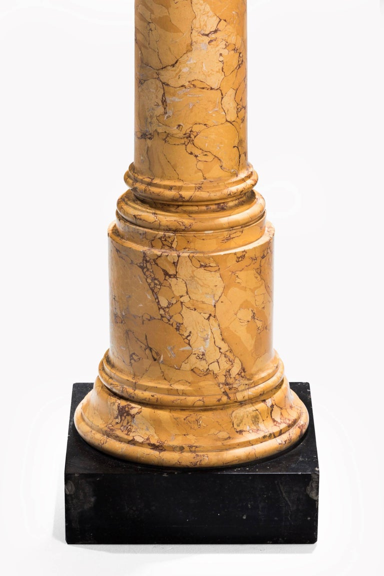 Mid-19th Century Faux Marble Pillar For Sale 1
