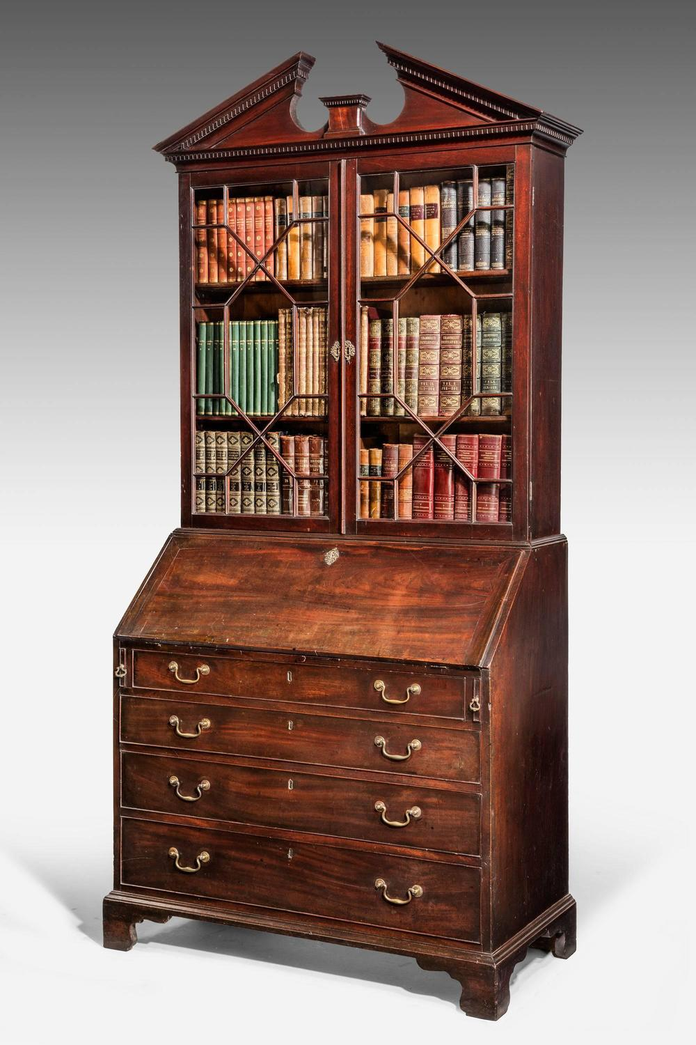 george iii period mahogany bureau bookcase at 1stdibs. Black Bedroom Furniture Sets. Home Design Ideas