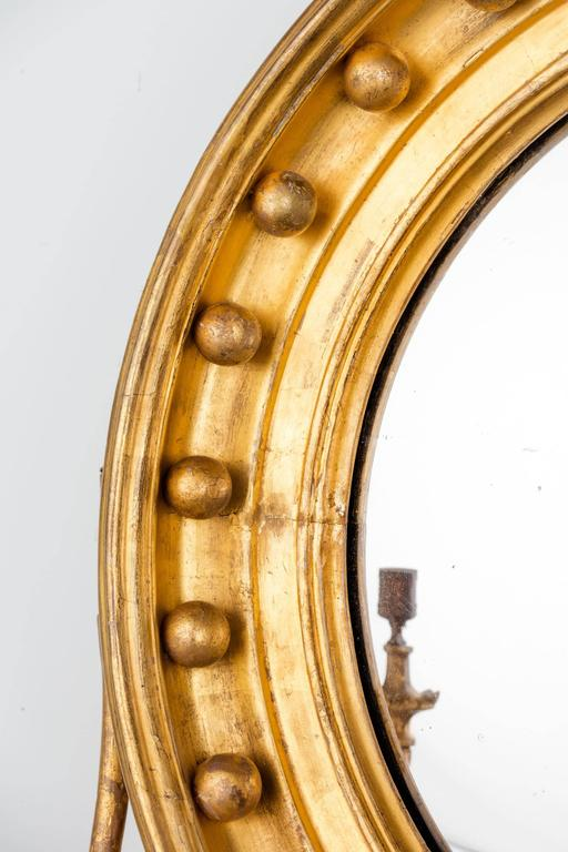 Regency Period Giltwood Convex Mirror For Sale 5