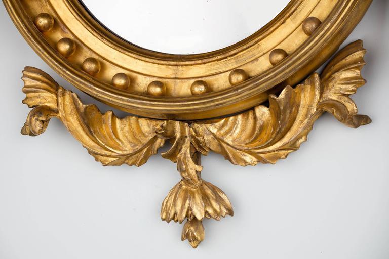 Regency Period Giltwood Convex Mirror For Sale 3