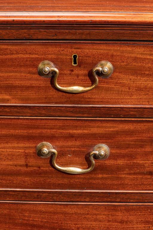 George III Mahogany Chest of Drawers In Good Condition For Sale In Peterborough, Northamptonshire