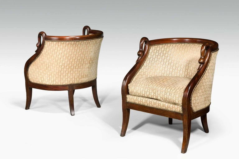 Pair of French Armchairs In Excellent Condition For Sale In Peterborough, Northamptonshire